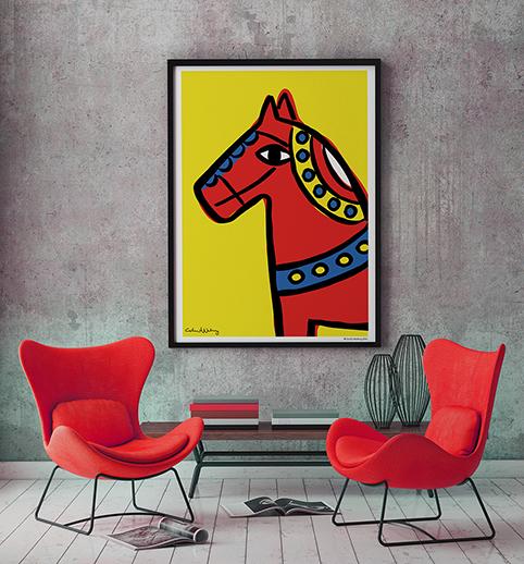 Dalahorse - Dalahäst Poster 70 x100 cm